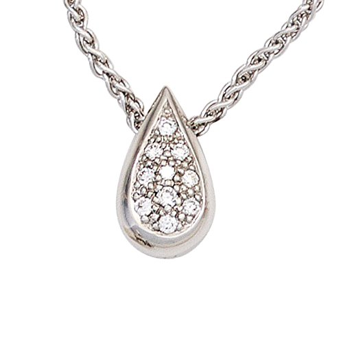 JOBO pendentif en or blanc 585 sertie de diamants brillants 0,08ct 10.