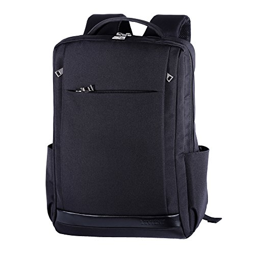 (Laptop Backpack Business Computer Backpack Travel Computer Bag for Women & Men, Anti Theft Water Resistant College School Bookbag for 15.6 Inch Laptop and Notebook Black)