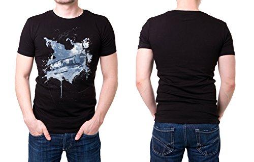 Bobsport_I schwarzes modernes Herren T-Shirt mit stylischen Aufdruck