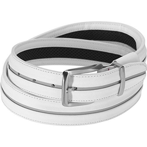 Nike Men's Tiger Woods Stripe with G Flex Belt, white/wolf grey, 42