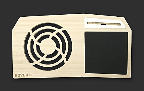 Hover X+ - Ultimate Gamers LapDesk - Giant Gamers Mousepad - Heat Ventilation - Natural Or Walnut Bamboo - Made in The USA (Extended - 17' Laptops, Premium Natural Bamboo)