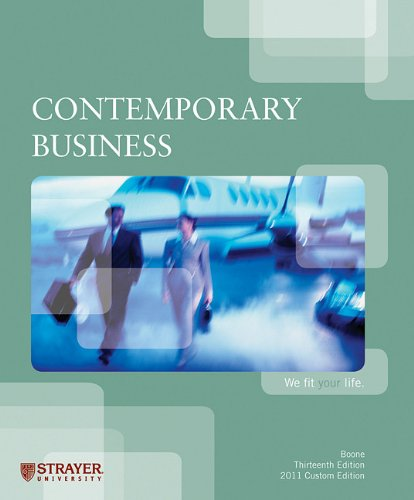 Contemporary Business; 13th Ed. 2011 Custom Edition