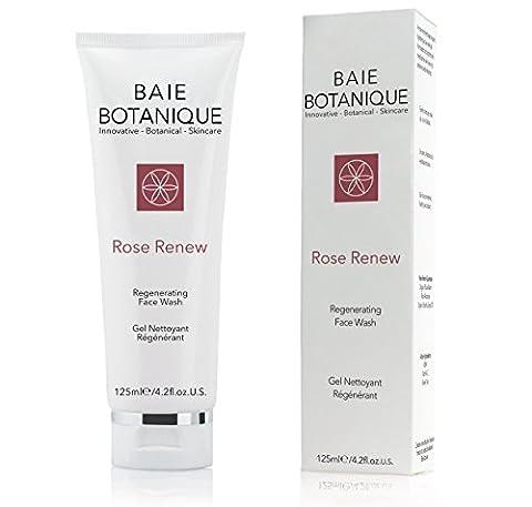 Regenerating Face Wash Smooth Skin - Rosewater, Rose Absolute, Rosehip Seed Oil, MSM, Vitamin C, Green Tea - 98% Natural, 70% Organic - 30 Day Satisfaction (Beauty Renew Illuminating)