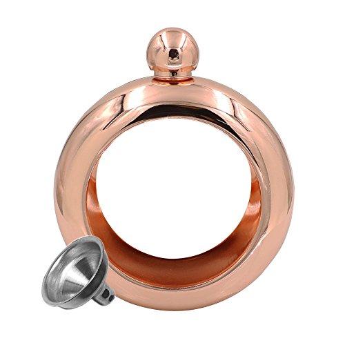 JUJOR Bangle Bracelet Flask 3.5 oz. (Rose Gold)