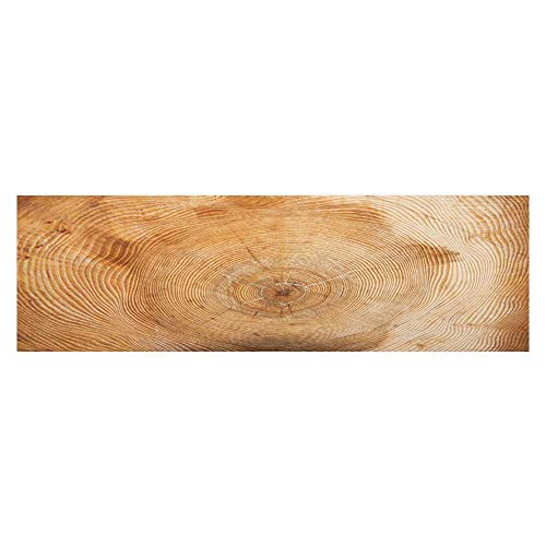 (Leighhome Fish Tank Decorations A Wooden Pile Full of Annual Wheels HD Fish Tank Decorations Sticker L29.5 x H17.7)