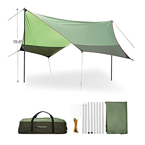 fivejoy portable canopy tent rainfly sun shelters shade for sun and uv protection ripstop nylon tarp for rain cover must have for camping hammock - U Shape Canopy 2015