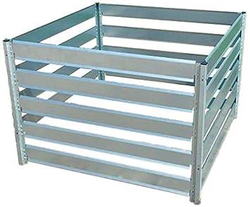 Compostador de metal 1,25 m x 1 m x 0,7 m