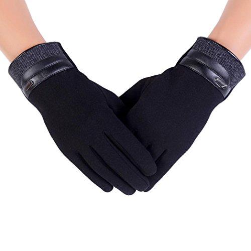 Winter Mens Gloves  Lowprofile Men Warm Thermal Motorcycle Ski Snowboard Gloves Touchscreen  Blackb