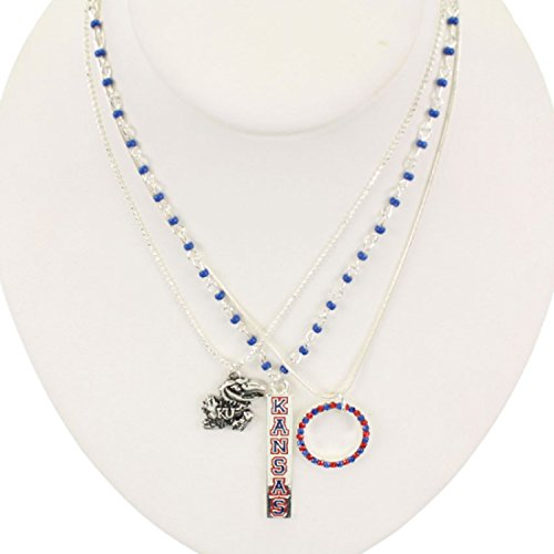 Kansas Jayhawks Trio Necklaces