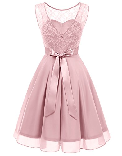 Dress Party Blush Swing Floral BeryLove Short line Bridesmaid A Lace Women's Dress BaxCa1
