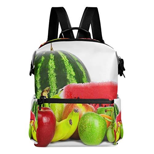 Watermelon Apple Banana Raisins School Backpack Large Capacity Waterproof Polyester Rucksack Satchel Casual Travel Daypack for Adult Teen Women Men Children