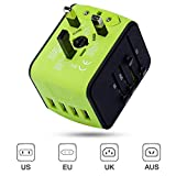 International Power Adapter, Universal Travel Adapter, Travel Plug Adapter, Worldwide Travel Adapter, All in One Travel Outlet Adapter with 4 USB 3.4A, for UK, EU, US, AUS, and More 170 Countries