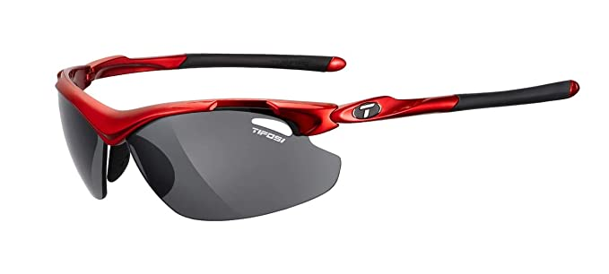 7a09d1a17fe Tifosi Unisex Adult Tyrant 2.0 Interchangeable Lens Sunglasses - Metallic  Red