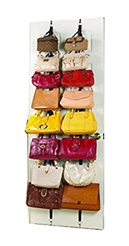 Lunarland 2 Racks Hanging Purse Handbag Bag Storage Over The Door Stand Organizer Closet - Crystal Platinum Cake Stand