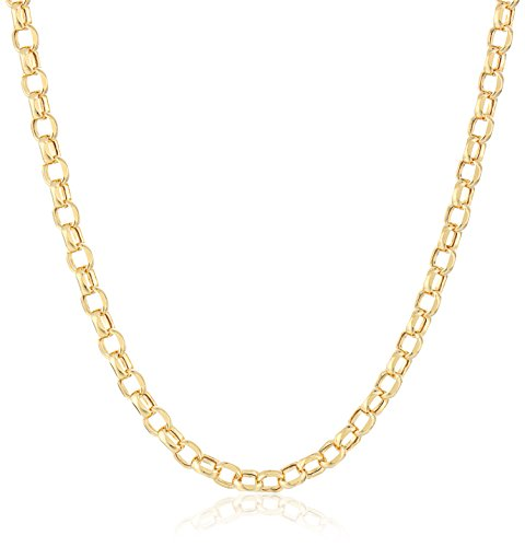 14k Yellow Gold Rolo Chain Necklace, 20