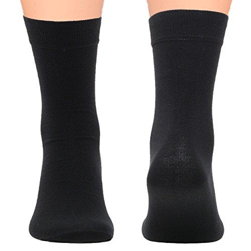 Men's Socks Black 5 Pack - For All Activities - Comfort Cotton Socks For Men - Classic Dress Style 10-13 (Shoe Size 8-12) (Under Armour Socks Men Quarter)