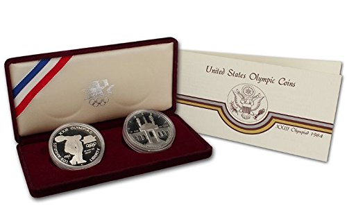 1983 Olympic Proof Silver Dollar Commemorative Coin in Original Mint Packaging
