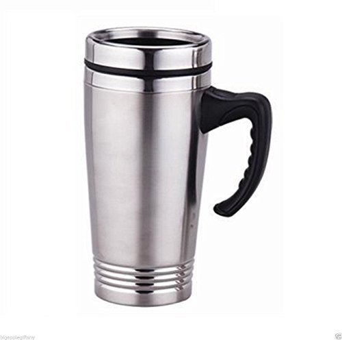 Stainless Steel Insulated Double Wall Travel Coffee Mug Cup 16OZ NEW!! (Anthropologie Flats)