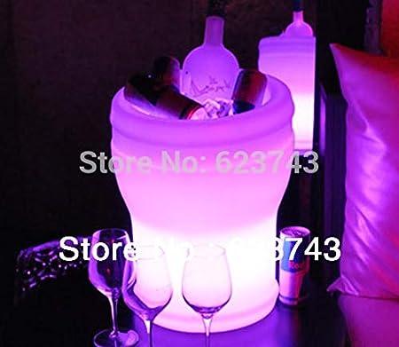 Cerveza de plástico Cubo de Hielo Cambio de Color Remoto Barril de Cerveza luz Cubo de Hielo congelador Brillante Botella de champán
