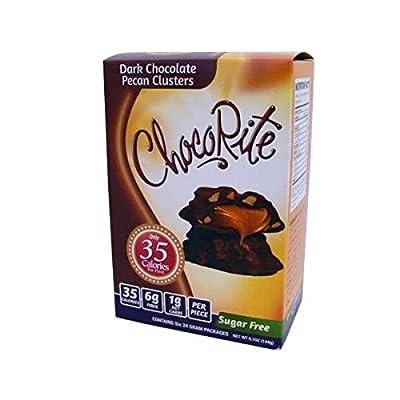 ChocoRite - High Protein Diet Bar | Dark Chocolate Pecan Clusters | Low Calorie, Low Fat, Sugar Free, (6/Box)