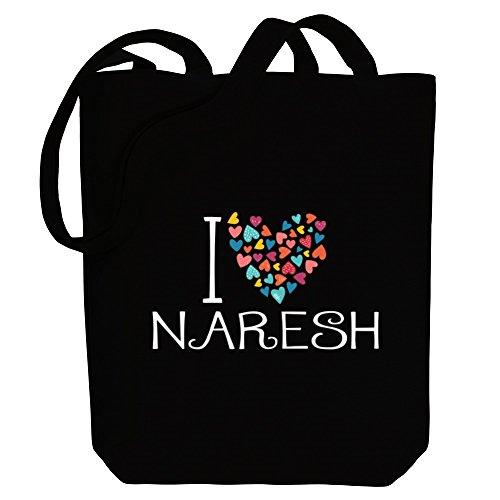 Canvas Tote Male hearts Names I Idakoos colorful love Bag Naresh 7PPR0q