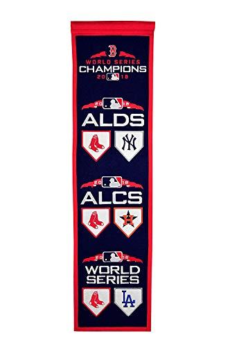 Winning Streak Boston Red Sox 2018 MLB World Series Road to Championship Champions Heritage Banner