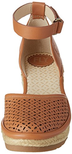 Womens Etic970fly Espadrille Womens London Leather Leather Espadrille Tan London FLY FLY Etic970fly Wedge Sandal Sandal Wedge FLY Tan 7wwqFCxP