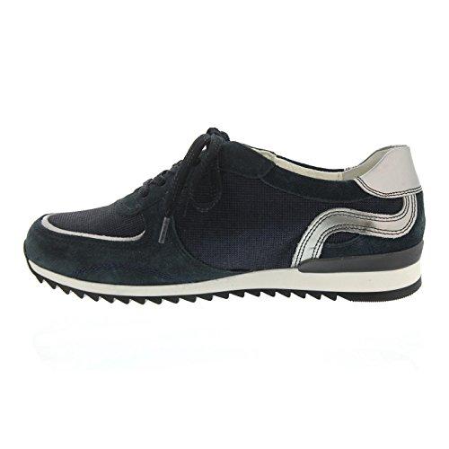 Waldläufer 370005-309-763 - Zapatos de cordones de Piel para mujer azul azul DEEPBLUE/SILBER/NOTTE