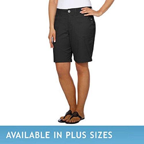 - DKNY Jeans Women's Bermuda Walking Shorts (2, Black)