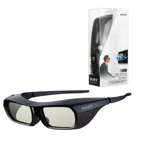 New Original Black Sony TDG-BR250 Active Shutter 3D Glasses for Bravia HDTV
