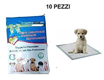 10 alfombrillas absorbentes e higiénicas para perros, alfombras pañales para cachorros, tamaño 60 x