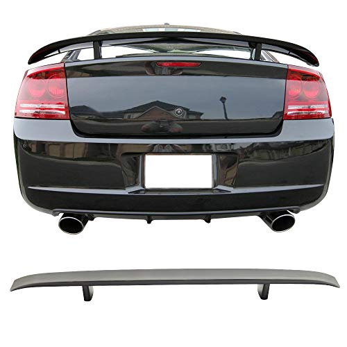 Srt8 Trunk - Free-motor802 Trunk Spoiler Fits 2006-2010 Dodge Charger | Primer Matte Black ABS Car Exterior Trunk Spoiler Rear Wing Tail Roof Top Lid