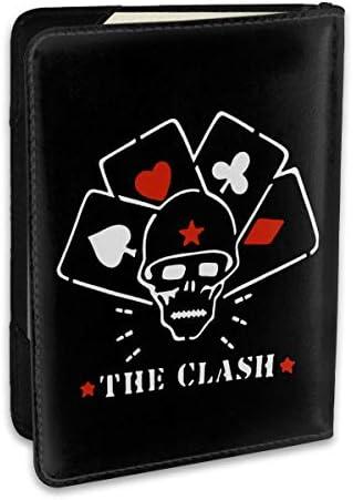 ザ・クラッシュ The Clash パスポートケース メンズ レディース パスポートカバー パスポートバッグ ポーチ 6.5インチ PUレザー スキミング防止 安全な海外旅行用 収納ポケット 名刺 クレジットカード 航空券