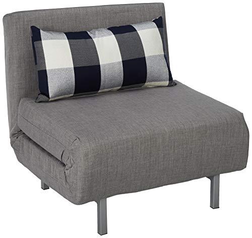 Wondrous Cortesi Home Savion Convertible Accent Chair Bed Grey Dailytribune Chair Design For Home Dailytribuneorg