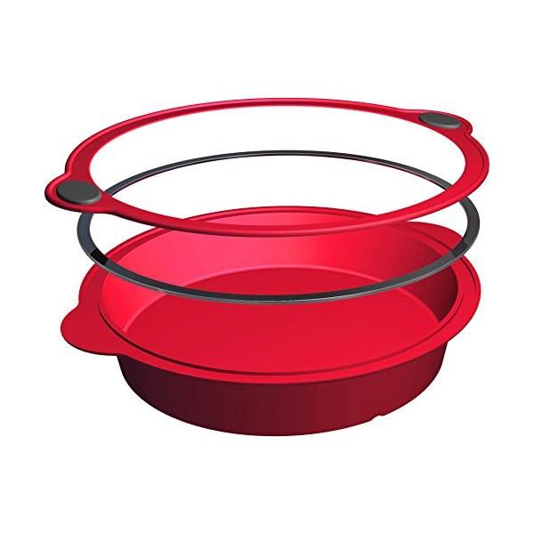 Levivo Stampo per Torta in Silicone / Forma per Torta in Silicone, Diametro 24 cm, Rosso 3 spesavip