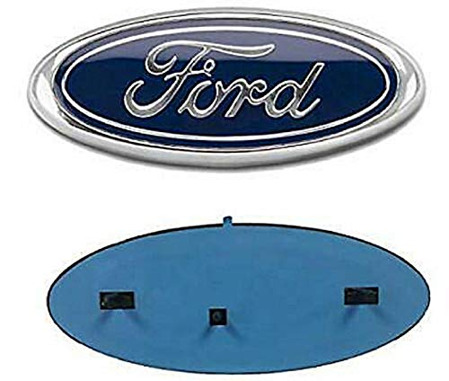 "Carstore 2004-2014 Ford F150 Front Grille Tailgate Emblem, Oval 9""X3.5"", Dark Blue Decal Badge Nameplate Also Fits for F250 F350, 11-14 Edge, 11-16 Explorer, 06-11 Ranger"