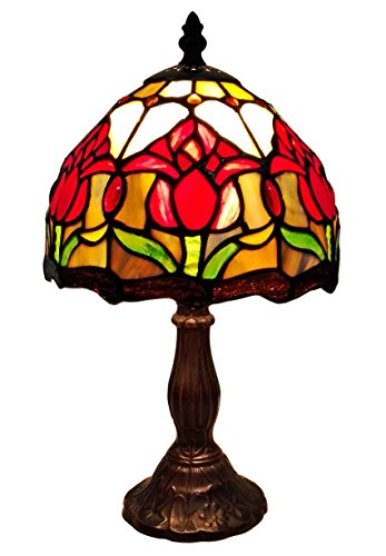 Amora Lighting AM117TL08 Tiffany Style Tulips Table Lamp 14 Inches High - Tiffany Tulip