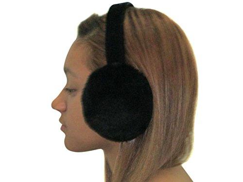(Black Sheared Mink Ear Muffs)