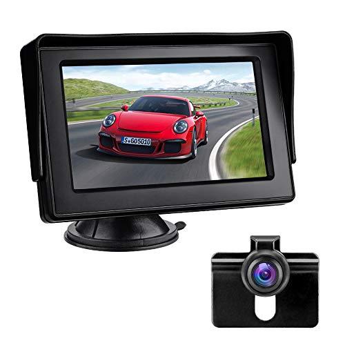 Achteruitrijcamerakit met 4,3-inch LCD-monitor Auto achteruitkijkcamera IP68 Waterdicht Nachtzicht Parkeerhulpsysteem…