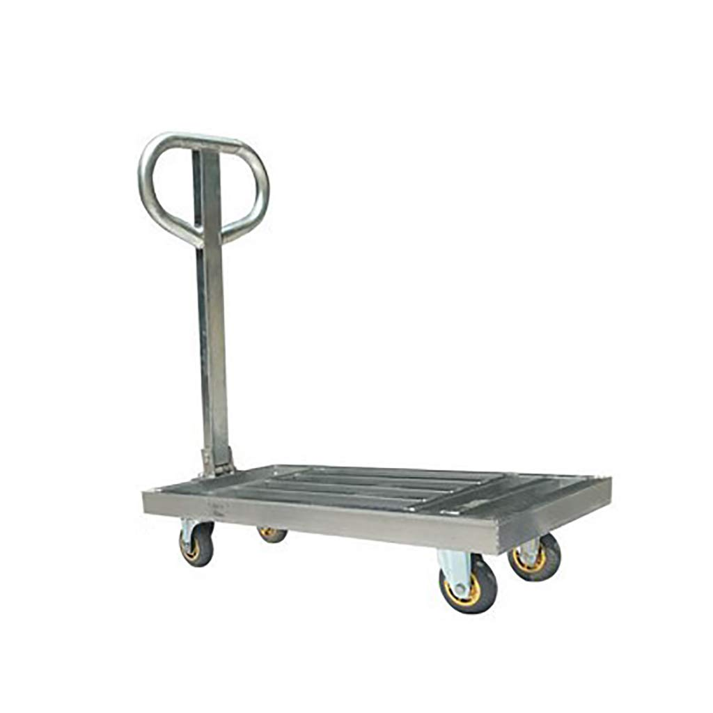 DIOE Hollow Cargo Trolley, Handrail Can Be Folded 180°, Detachable, Silent Rubber Wheel, Easy to Carry