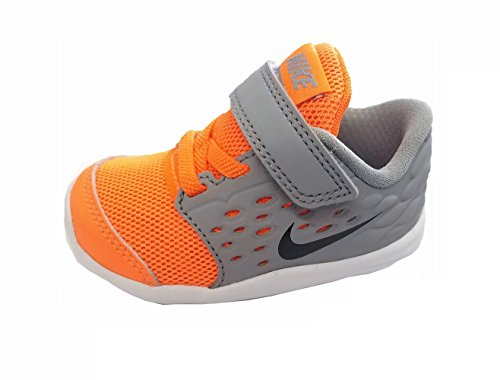 NIKE Toddlers Lunar Stelos (TDV) First Walkers Shoes 844972 800 Total Orange/Black-Stealth (4 Toddler M)