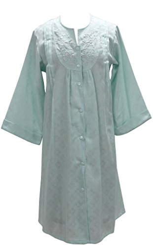 New Miss Elaine Short Gripper Front Woven Jacquard Robe Wrap Gown Pajamas - XL ()
