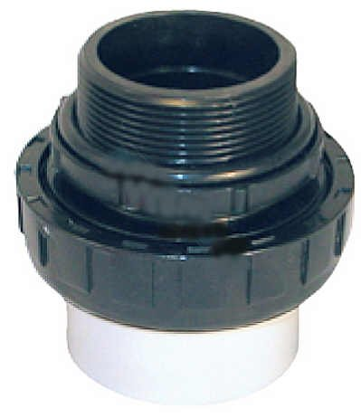Socket Coupling - Custom Molded Products 2in Union SKT (Socket) x MIP (Male Threaded Pipe)- CPVC