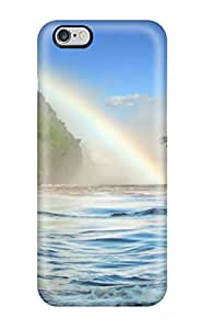 Premium Rainbow Back Cover Snap On Case For iphone 6 plus