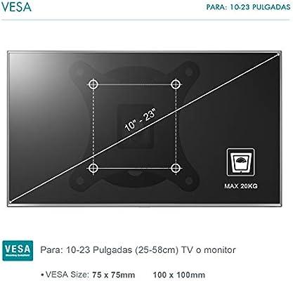 Famgizmo Soporte de Pared Delgado para TV 10-24 Pulgadas(25-60cm ...