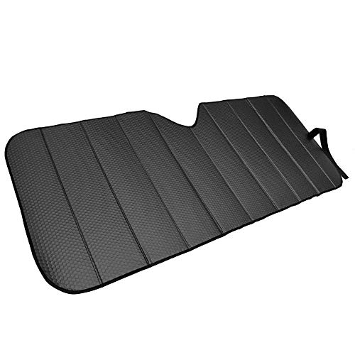 (Motor Trend AS-311-BK_am Front Windshield Sun Shade-Accordion Folding Auto Sunshade for Car Truck SUV 58 x 24 Inch (Black))