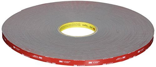 3M VHB Tape 4991 Gray, 91 mil Thick, 36 yd Length, 1/2'' Width by 3M