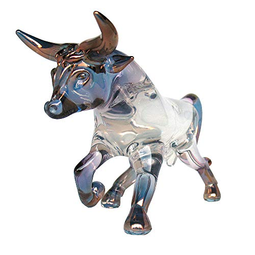 Prochaska Gallery Hand Blown Glass Bull Figurine
