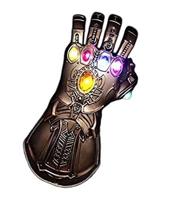 Yacn Thanos Infinity Gauntlet Glove Costume& Gold Thanos Glove for Men Kids Cosplay … (led PVC)