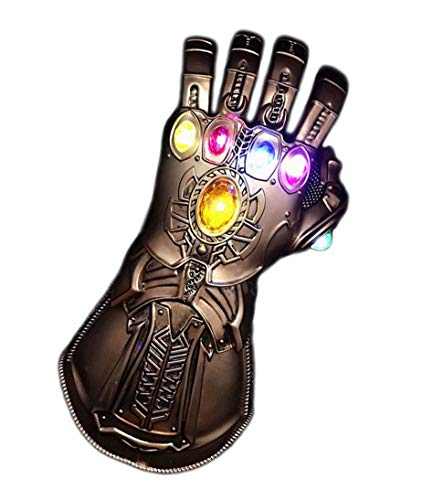 (JaCos thanos infinity gauntlet glove with LED Light PVC for halloween)